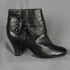 Sofft Black Fold Over Victorian Style Ankle Boots
